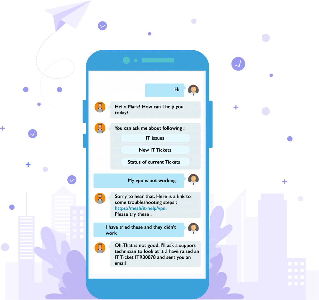 It Helpdesh Chatbot Mobile View