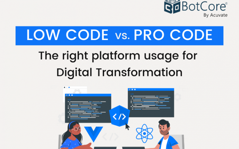 Low Code Vs Pro Code The Right Platform Usage For Digital Transformation